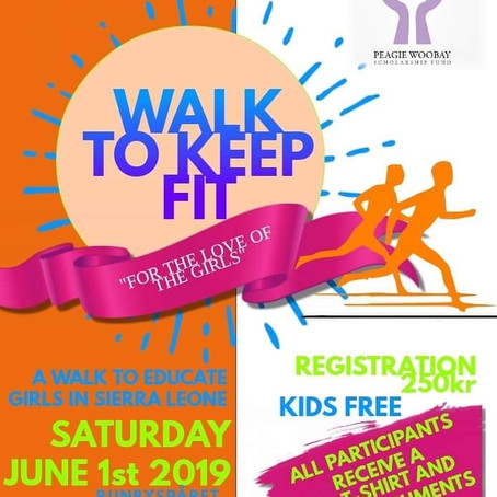 """""""A walk to keep fit and educate girls in Sierra Leone""""."""