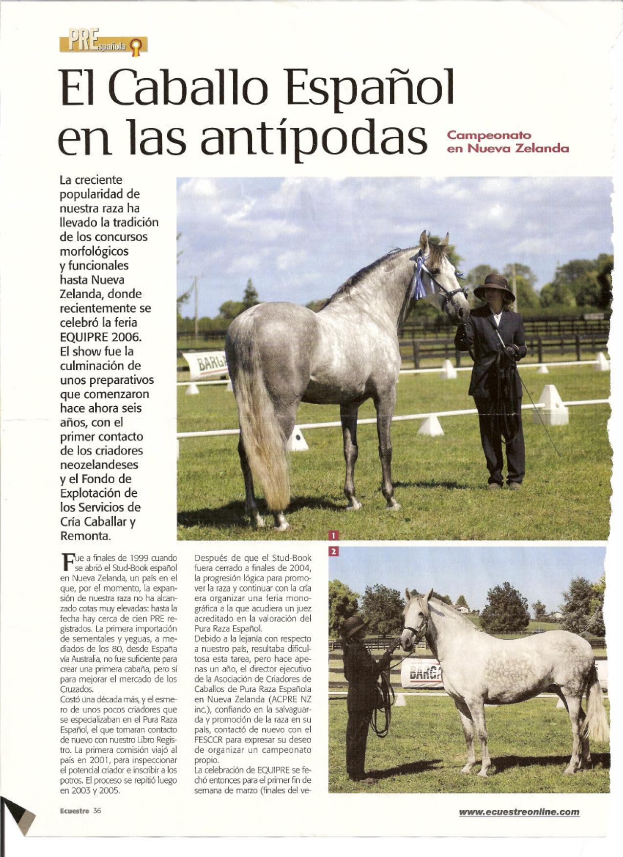 Ecuestre Magazine Spain 2006