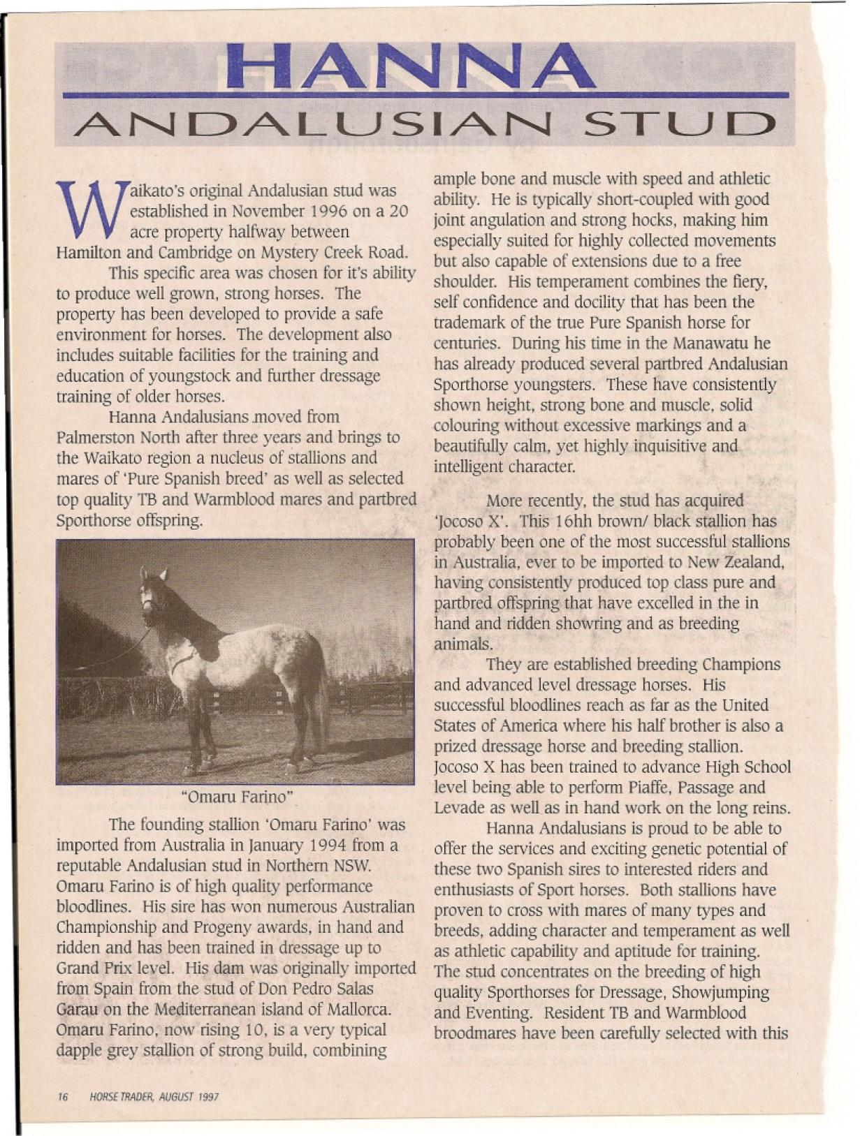 HT magazine article 1997
