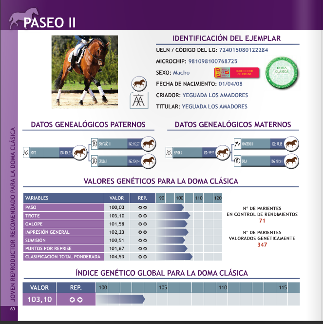 Paseo II breed selection book