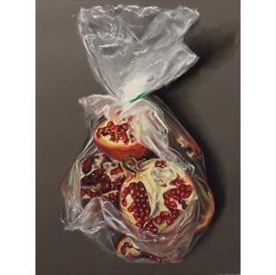 Pomegranates in Bag
