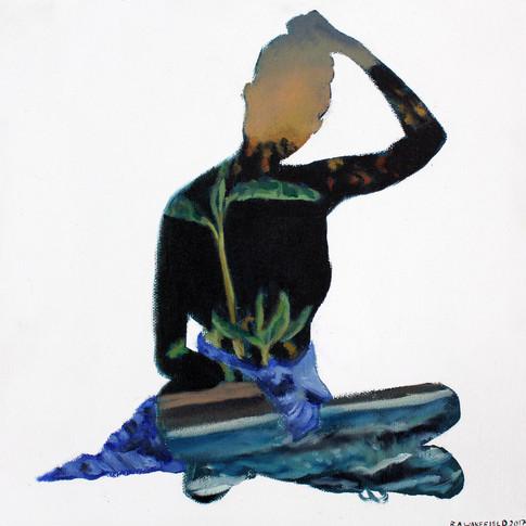 "Hortense 10x10"" oil on canvas  2017"