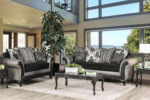 MIDLETON Imprad Gray/Black Sofa