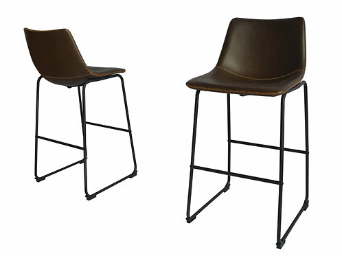 Best BS28 Coffee Faux Leather Barstool