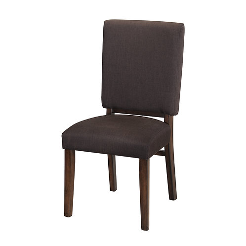 Henry Sedley Collection Transitional Walnut Finish Side Chair
