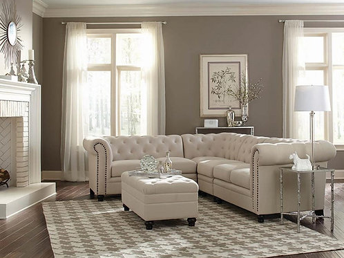 Roy Cali Tufted Sectional Oatmeal