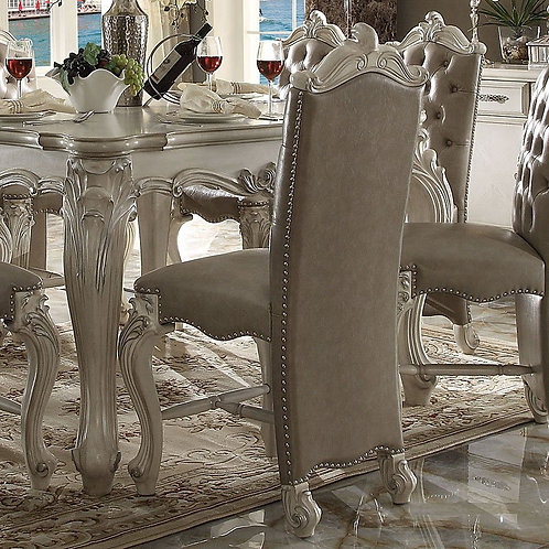 All Versailles Counter Height Chair Vintage Gray PU & Bone White