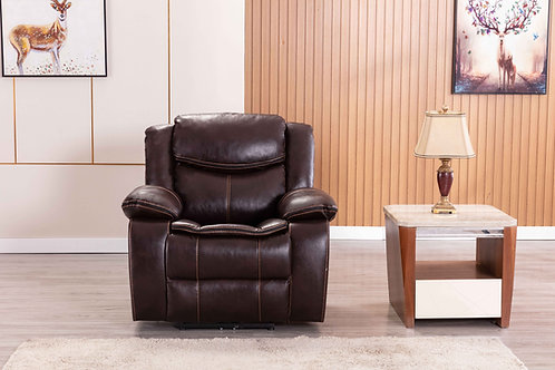 8005 Mg Brown Reclining Chair Power