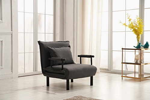 7706 Milt Chair Bed Gray