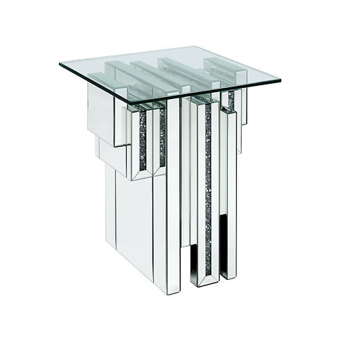 All Noralie - 88002 - Glam - Mirror, Glass End Table
