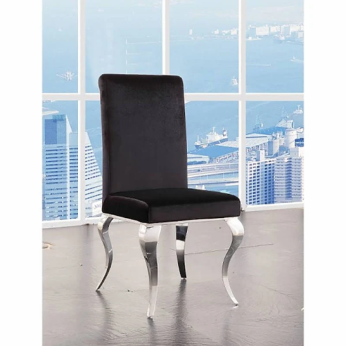 Noralie All Black Fabric Chair