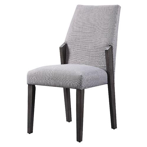 Bernice All Side Chair Fabric & Gray Oak