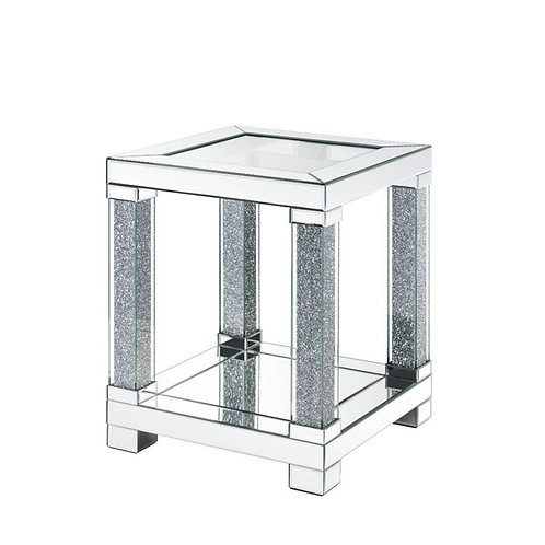All Noralie Glam Mirrored End Table-87997