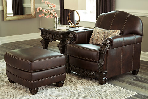 Angel Traditional Leather Ottoman