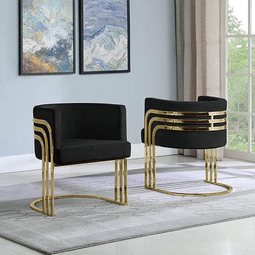 AC222 BestQ Black/Gold Velvet Chair