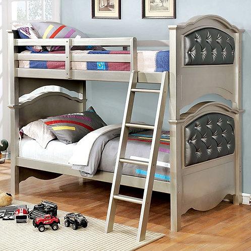 DOMINIQUE Imprad Twin/Twin Champagne Bunk Bed