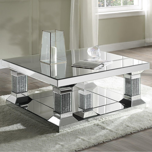 Glam All 87905 Mirrored Coffee Table