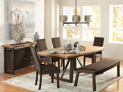Compson Henry Natural Finish Dining Table