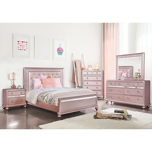 Avior Imprad Rose Pink Contemporary Bed