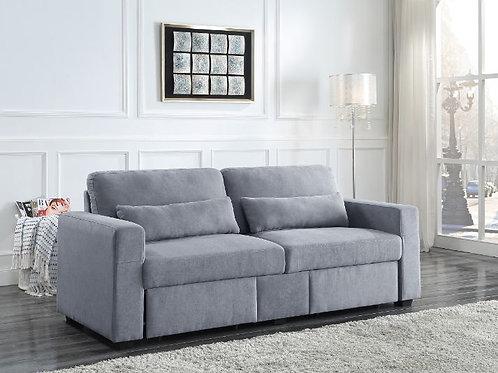 All ROGYNE Gray Linen Storage Sofa - 51895