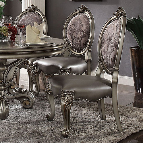 Versailles ALL Platinum Finish Side Chair
