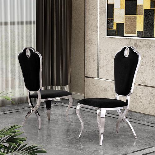 Best Q SC37 Black Velvet Side Chair