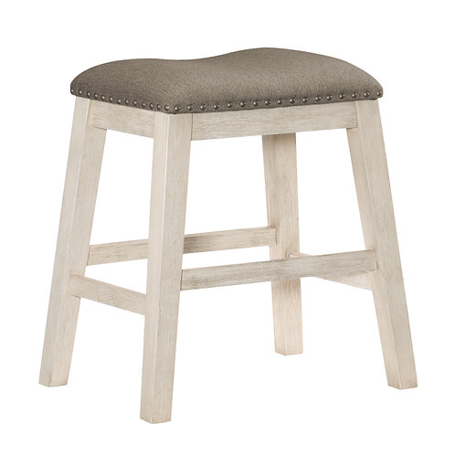 Timbre Henry Whitewash Counter Height Stool