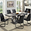 Thumbnail: Imprad SASKIA Contemporary Gray Wood Dining Table