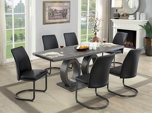 Imprad SASKIA Contemporary Gray Wood Dining Table