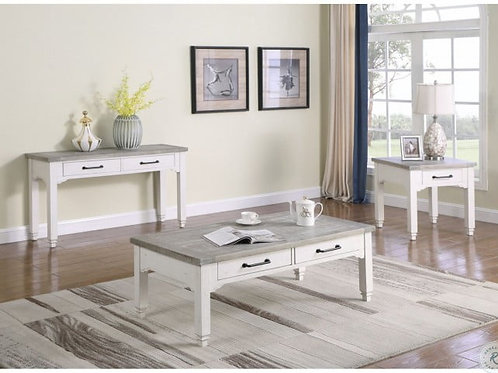 Emeral Centerville Antique White Coffee Table w/2 Drawers
