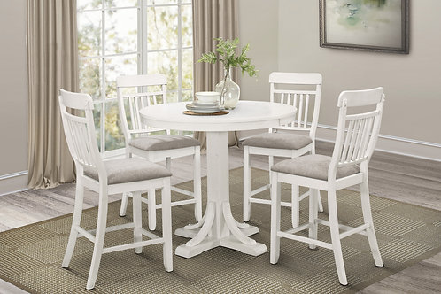 Samuel Henry Round Counter Height White Table