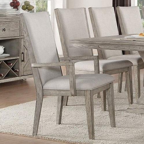 Rocky All Gray Oak Finish Arm Chair