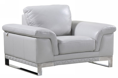Geo 411 Light Gray Chair Italian Leather