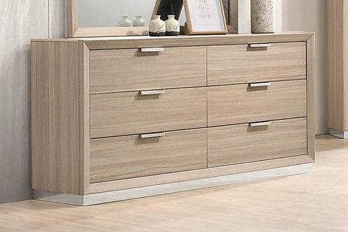 Lynncrest Cali 6-Drawer Dresser Rustic Beige