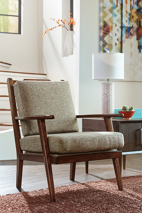 Dahra Angel Chenille Mid-Century Accent Chair