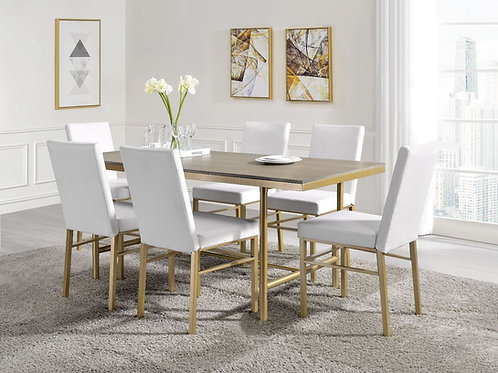 All Entropy - 72235 - Glam, Industrial 7Pc Dining Set