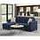 Thumbnail: Emeral Langley Navy Sleeper Sofa Chaise w/Storage