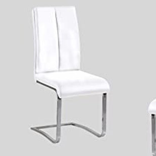 BA207 Best Faux Leather White Chair