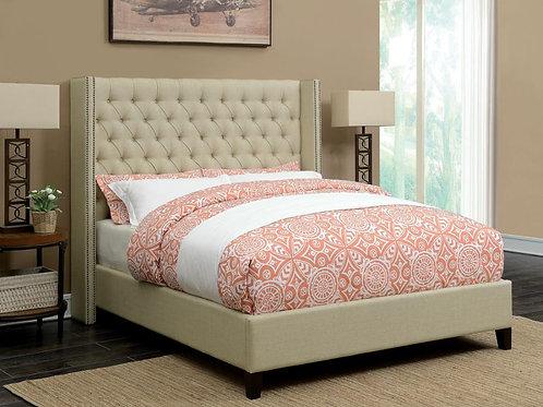 Bancroft Cali Upholstered Beige Bed