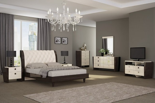 Paris Tufted Leather Upholstered Wooden Bed