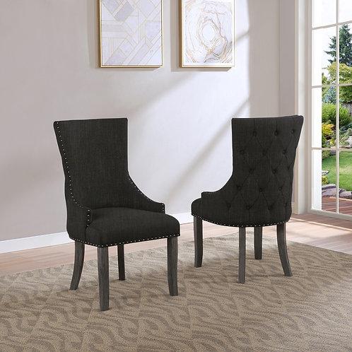 Best Q SC30 Dark Gray Linen Fabric Chair