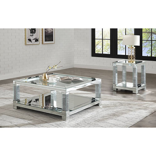 All Noralie Glam Mirrored Coffee Table - 87995