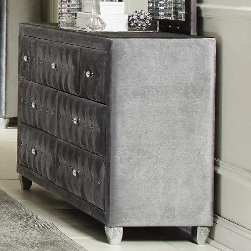 Deanna Cali 7-Drawer Rectangular Dresser Grey