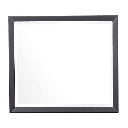 Raku Gray/Black Henry Mid-Century Modern Mirror