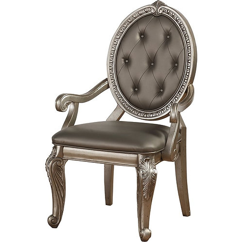 Northville All PU /Antique Champagne Arm Chair