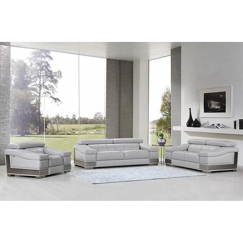 415 Grey GU Sofa Italian Leather