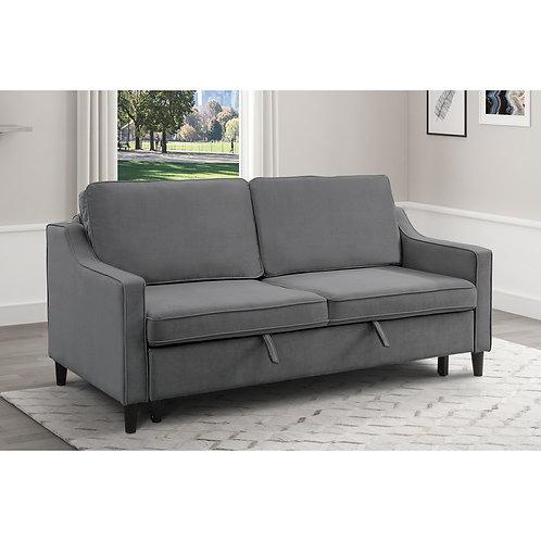 Adelia Henry Dark Gray Velvet Sofa Bed