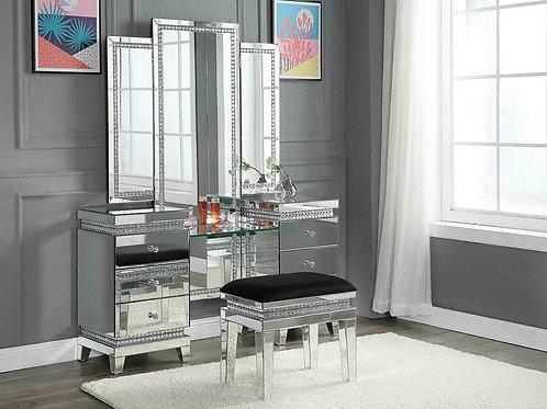 All Lotus Mirrored, Glam Crystal Vanity Desk