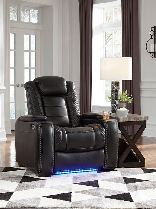 Party Angel Power Reclining Black Chair