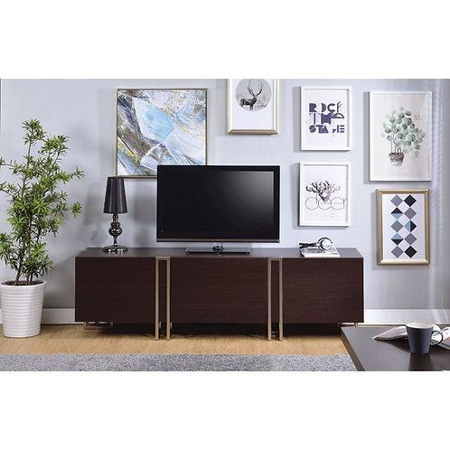 All Cattoes TV Stand - 91795 - Dark Walnut & Nickel